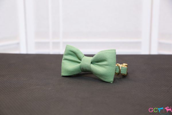 CLL Green Dog Bow Tie