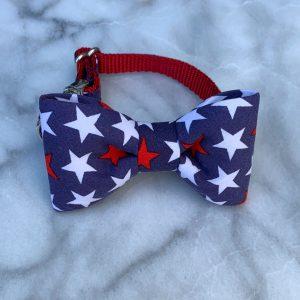CLL Patriotic Stars Dog Bow Tie