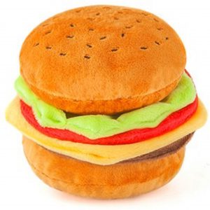 Cheeseburger Dog Chew Toy